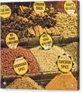 Various Spices Acrylic Print