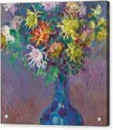 Vase Of Chrysanthemums Acrylic Print
