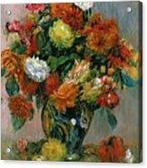 Vase Of Flowers Acrylic Print by Pierre Auguste Renoir