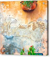 Vase On Decayed Wall Acrylic Print