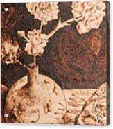 Vase With Flowers Acrylic Print