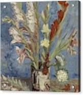 Vase With Gladioli And Chinese Asters Paris, August - September 1886 Vincent Van Gogh 1853  1890 Acrylic Print