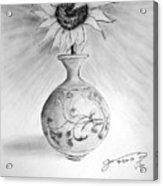 Vase With One Sunflower Acrylic Print