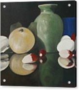 Vase With Radishes Acrylic Print