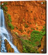 Vaseys Paradise Twin Falls Acrylic Print
