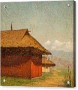 Vasily Vasilievich Vereshchagin  Russian 1842  1904 Nepalese Village Acrylic Print
