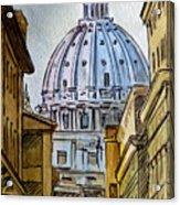 Vatican City Acrylic Print by Irina Sztukowski