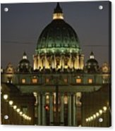 Vatican, Rome, Italy.  Night View Acrylic Print by Richard Nowitz