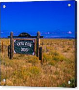 Vaya Con Dios Sign San Luis Valley Co Acrylic Print