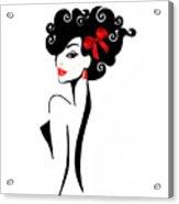 Vector Girl 2 Acrylic Print