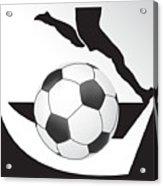 Vector Soccer Ball. Corner Kick Graphic Symbol Acrylic Print