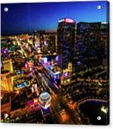 Vegas At Dusk Acrylic Print