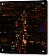 Vegas Strip Acrylic Print by D R TeesT