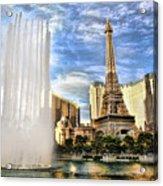 Vegas Water Show Acrylic Print
