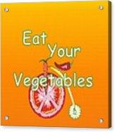 Vegetable Kitchen Decor Acrylic Print