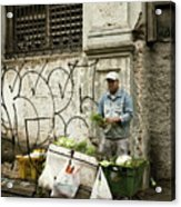 Vegetable Vendor Havana Cuba Acrylic Print