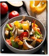 Vegetables Stir Fry Acrylic Print