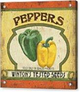 Veggie Seed Pack 2 Acrylic Print by Debbie DeWitt