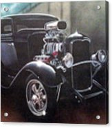 Vehicle- Black Hot Rod  Acrylic Print