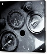 Vehicle Dials In Dust Acrylic Print