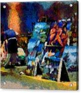 Vendedor De Pinturas Acrylic Print