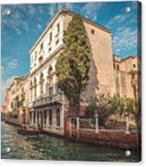 Venetian Architecture And Sky - Venice, Italy Acrylic Print