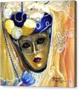 venetian carneval mask V Acrylic Print