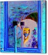 Venetian Girl Looking In Mirror Acrylic Print