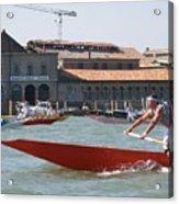 Venetian Rowing Racers Acrylic Print