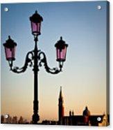 Venetian Sunset Acrylic Print by Dave Bowman