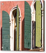 Venetian Windows Acrylic Print