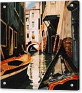 Venice - Gondola Ride Acrylic Print