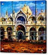 Venice - Pigeons On San Marco Square Acrylic Print