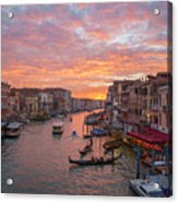 Venice At Sunset - Italy Acrylic Print