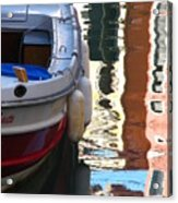 Venice Boat Reflection Acrylic Print