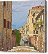 Venice Bridge Crossing 1 Acrylic Print