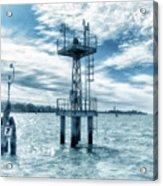 Venice - Buoy And Mooring In The Lagoon Acrylic Print