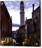 Venice Canal At Dusk Acrylic Print