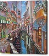 Venice Canal Reflections Acrylic Print