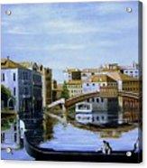 Venice Canal Ride Acrylic Print