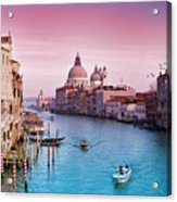 Venice Canale Grande Italy Acrylic Print by Dominic Kamp Photography