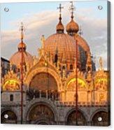 Venice Church Of St. Marks At Sunset Acrylic Print
