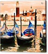 Venice, City Of Romance, Italy, Gondolas Acrylic Print