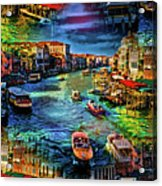 Venice Coming And Going Acrylic Print
