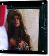 Venice Cowgirl Acrylic Print