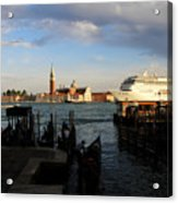 Venice Cruise Ship Acrylic Print by Andrew Fare