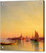 Venice From The Lagoon At Sunset Acrylic Print by Ivan Konstantinovich Aivazovsky