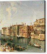 Venice, Grand Canal And The Fondaco Dei Turchi  Acrylic Print