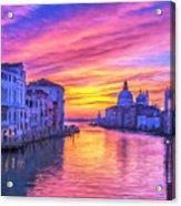 Venice Grand Canal At Sunset Acrylic Print