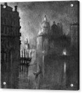 Venice, Grand Canal, C1905.  Acrylic Print